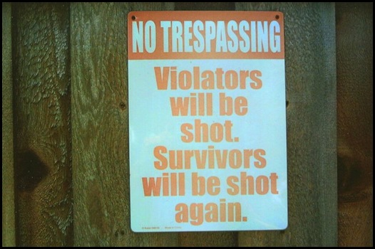 No Tresspassing